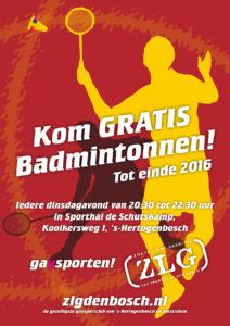 Gratis Badmintonnen 2016